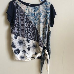 Anthropologie short sleeve printed size small tee